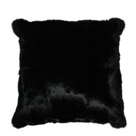 Housse coussin Lapin Noir recto/verso