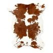 Peau de veau marron et blanche